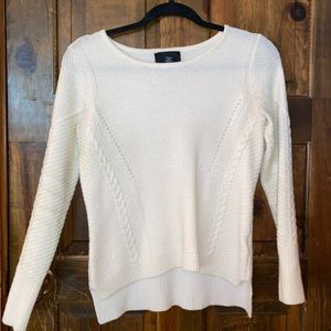 White detailed sweater